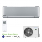 Aparat de aer conditionat Panasonic ETHEREA cu nanoe™ X Silver Inverter+ KIT-XZ35-VKE 12000 Btu/h Wi-Fi inclus